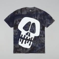 Stussy Big Skull Tie Dye T-Shirt - Purple