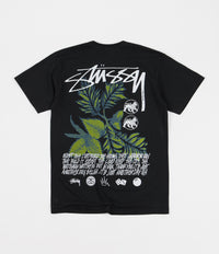 Stussy Bloom Pigment Dyed T-Shirt - Black