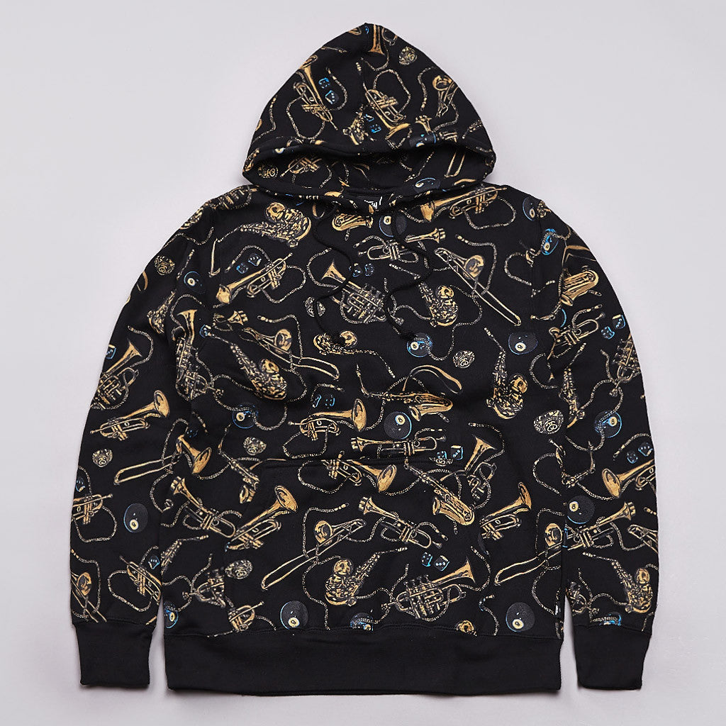 Stussy Brass Hooded Sweatshirt Black
