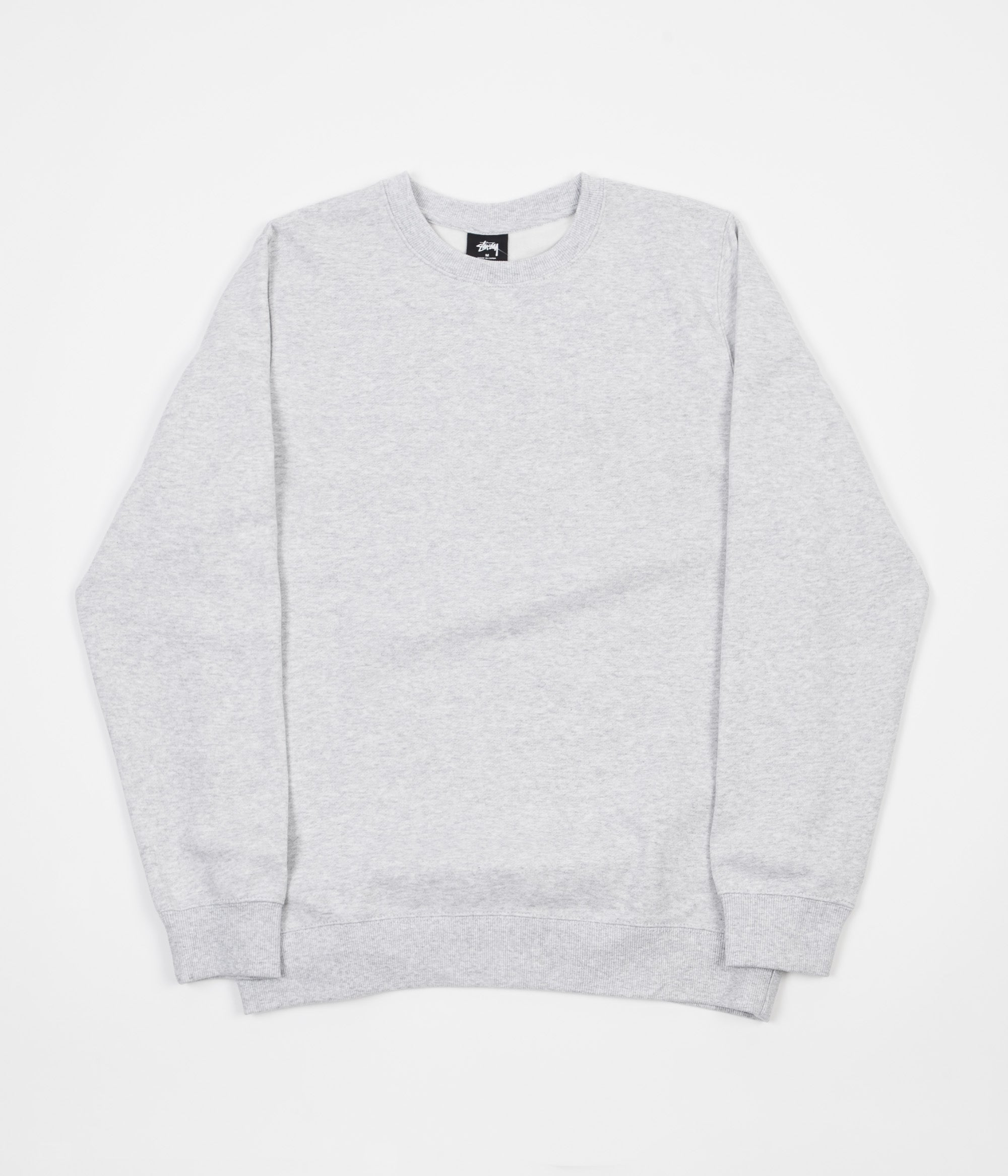 Stussy Camo Stock Crewneck Sweatshirt - Grey Heather