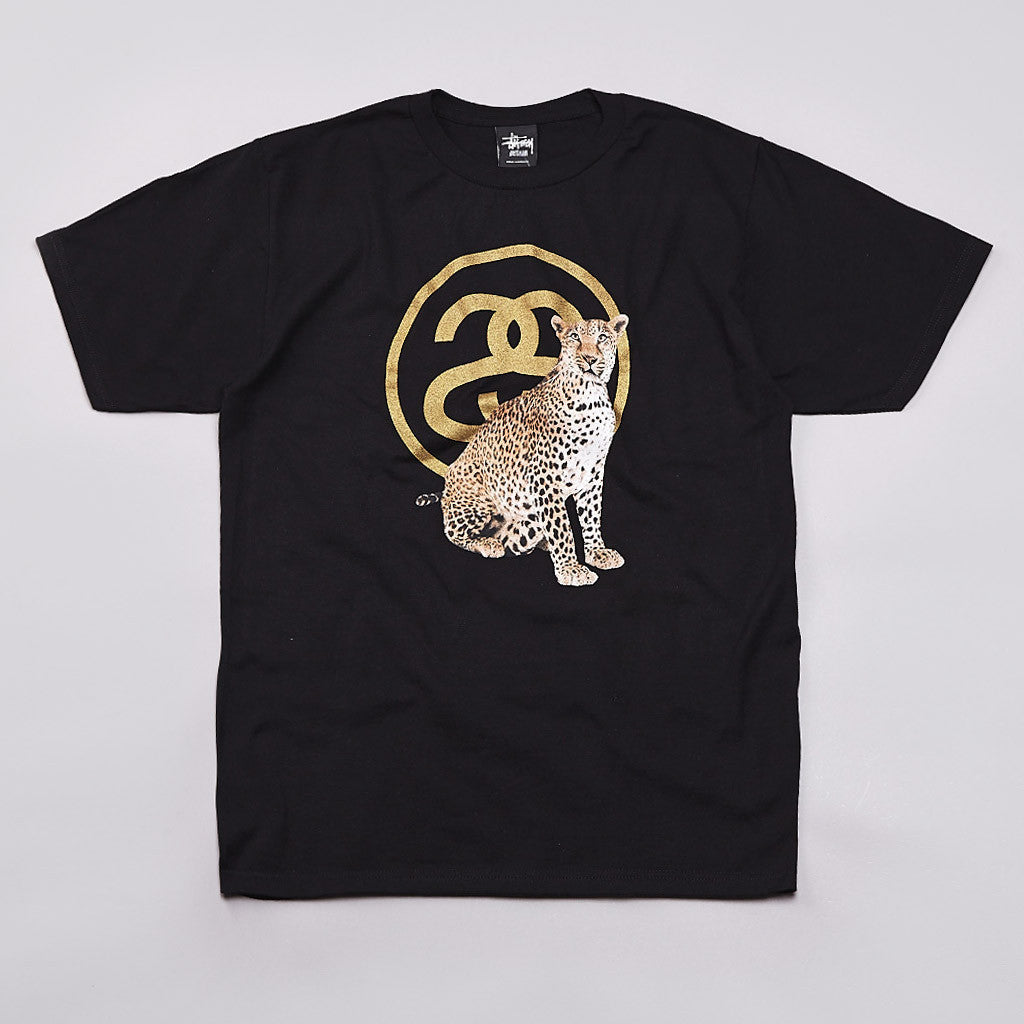 Stussy Cheetah Link T Shirt Black