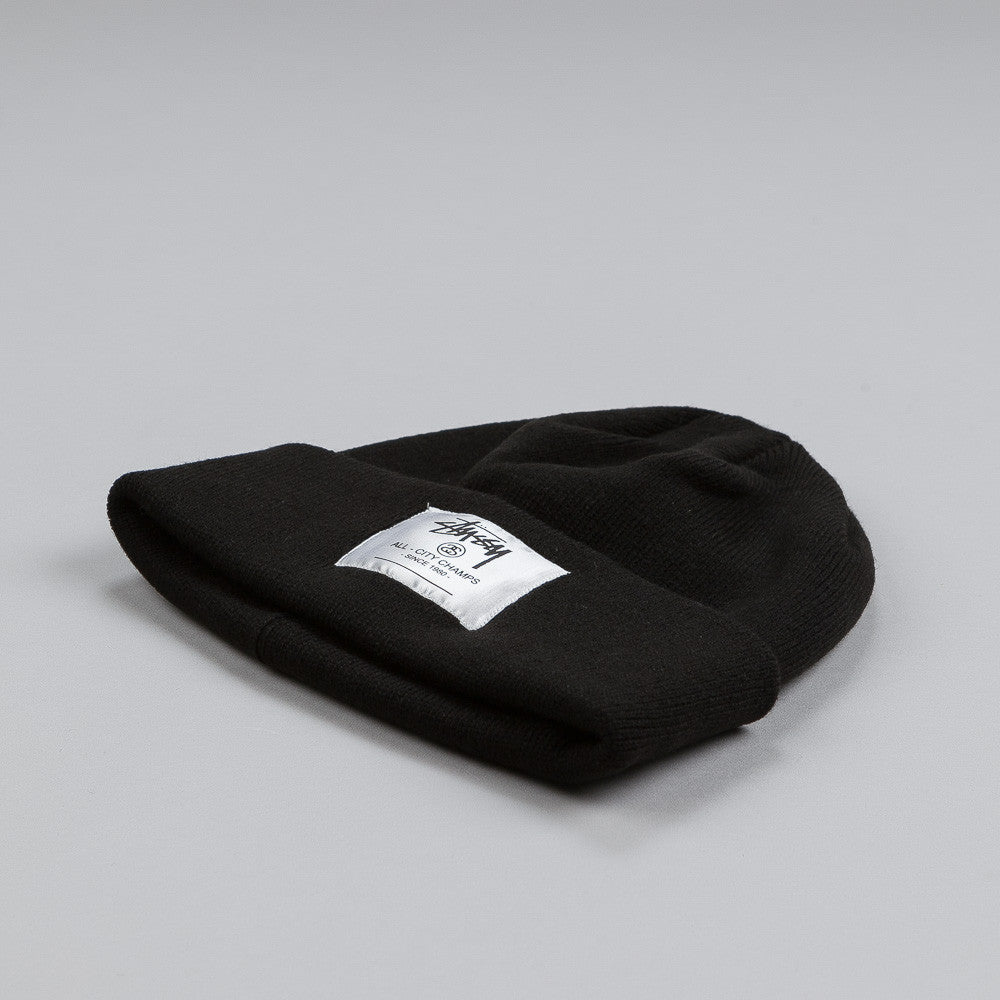 Stussy City Champs Cuff Beanie Black