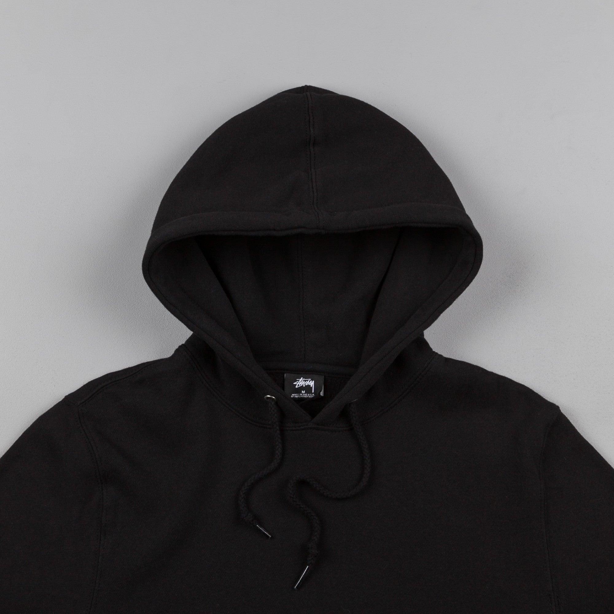 Stussy Classic Applique Hooded Sweatshirt - Black