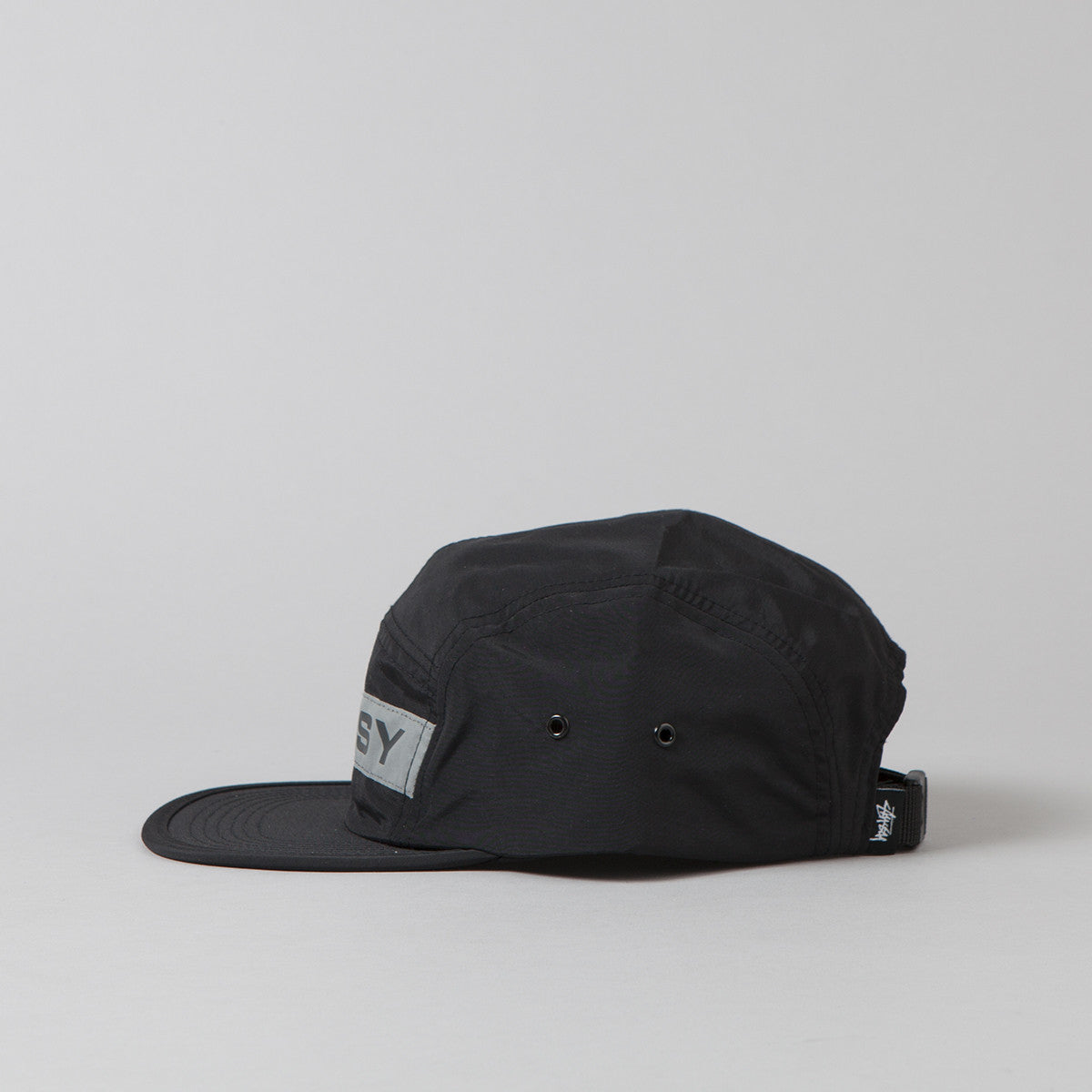 Stussy Reflective Tape Camp Cap - Black