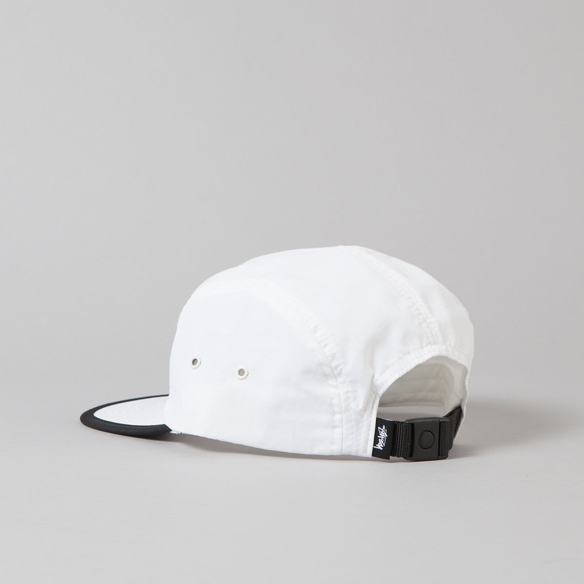 Stussy Reflective Tape Camp Cap - White