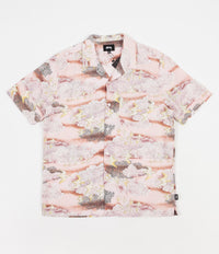 Stussy Cloud And Birds Shirt - Peach