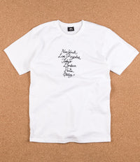 Stussy Cursive Embroidered T-Shirt - White