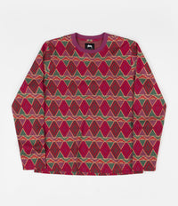 Stussy Cuzco Long Sleeve T-Shirt - Berry