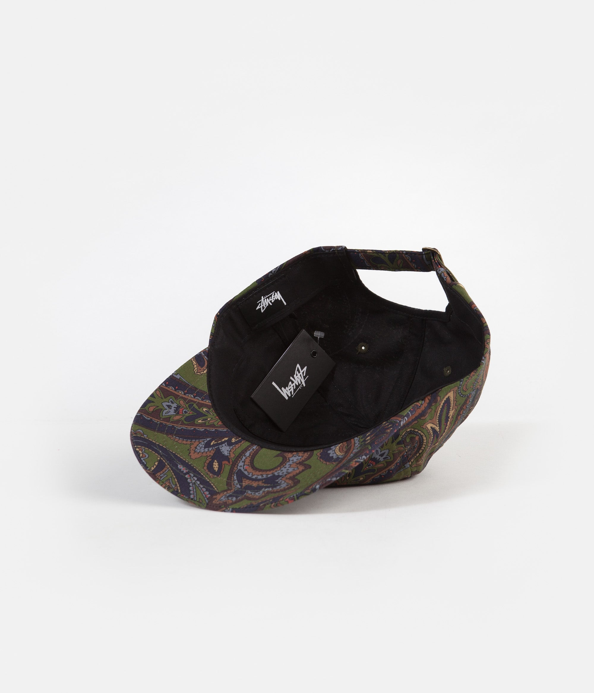 Stussy Cypress Paisley Low Pro Cap - Olive