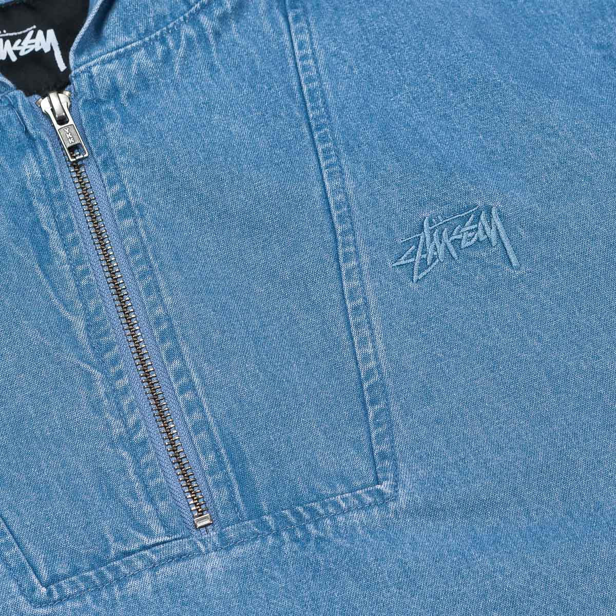 Stussy Denim Popover Jacket - Blue