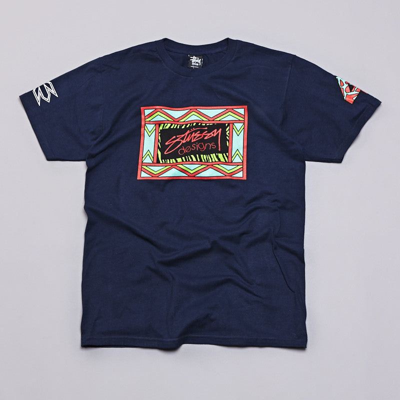 Stussy Design Box T Shirt Navy