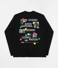 Stussy Dot Collage Long Sleeve T-Shirt - Black