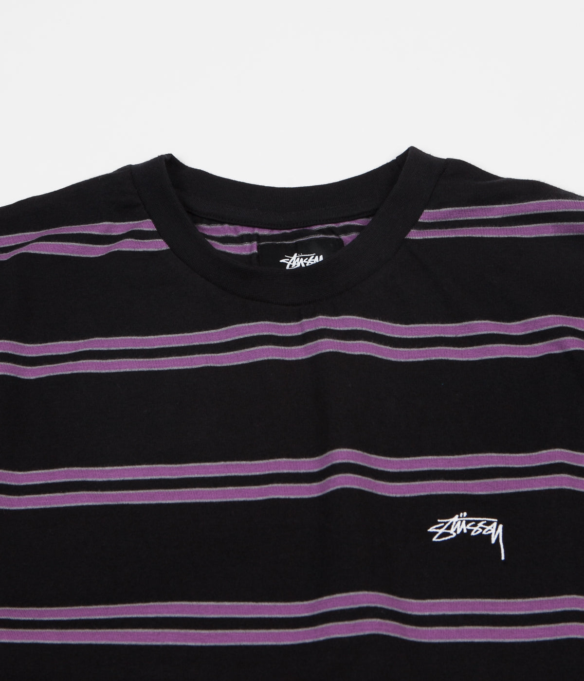 Stussy Double Stripe T-Shirt - Black