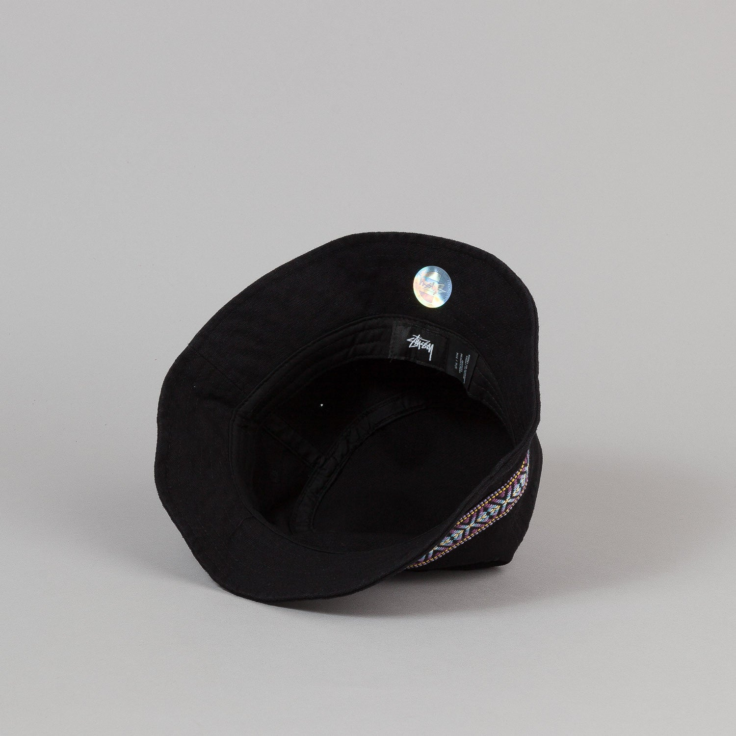 Stussy Folk Band Bucket Hat - Black