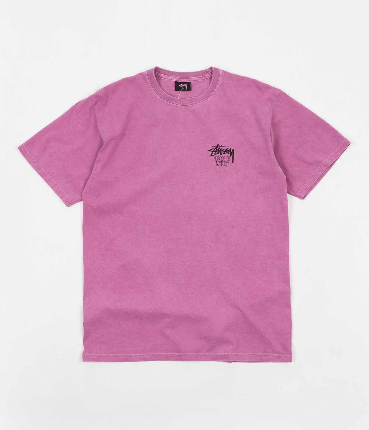 Stussy Forces Of Nature Pigment Dyed T-Shirt - Orchid