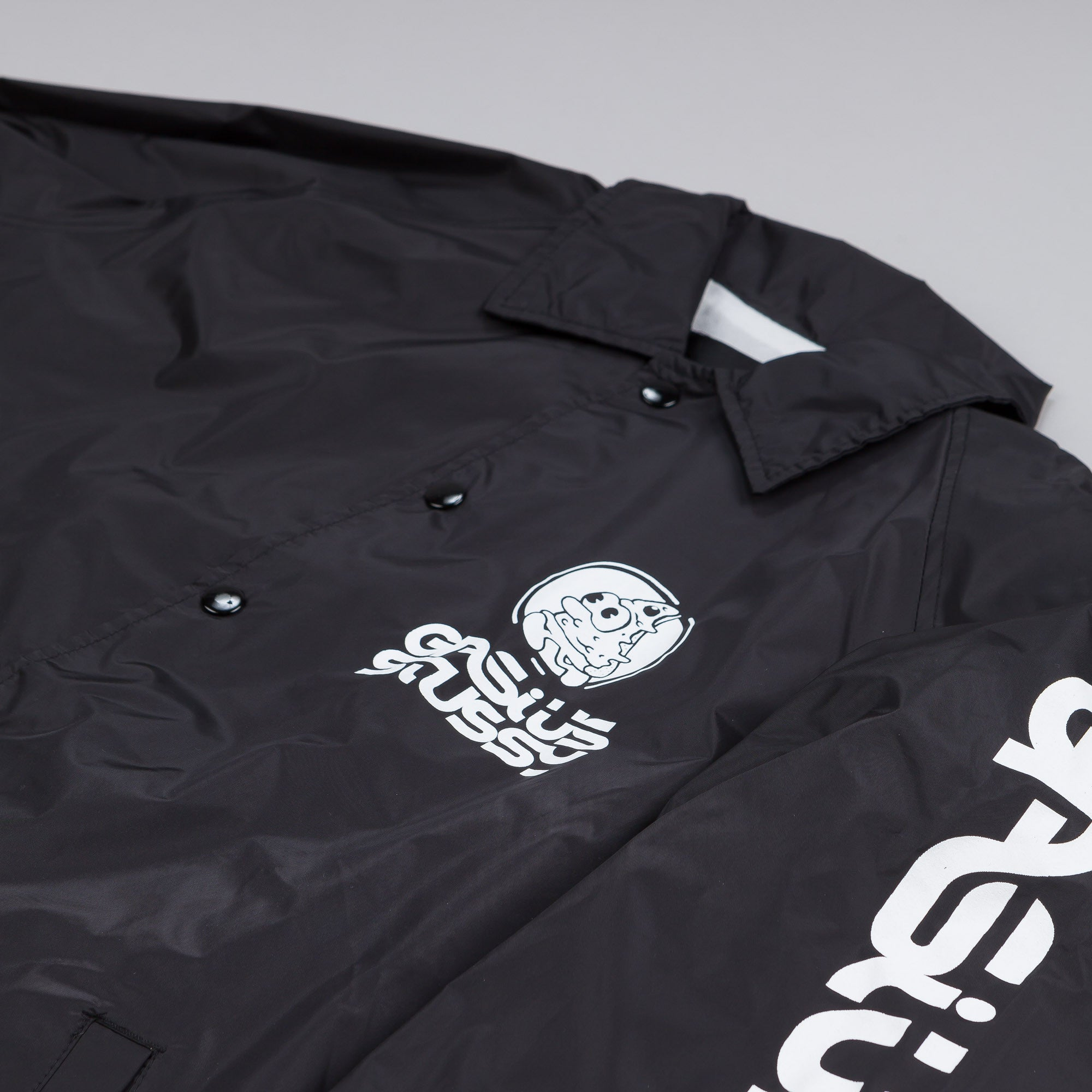 Stussy x Gasius Pizza Coach Jacket Black