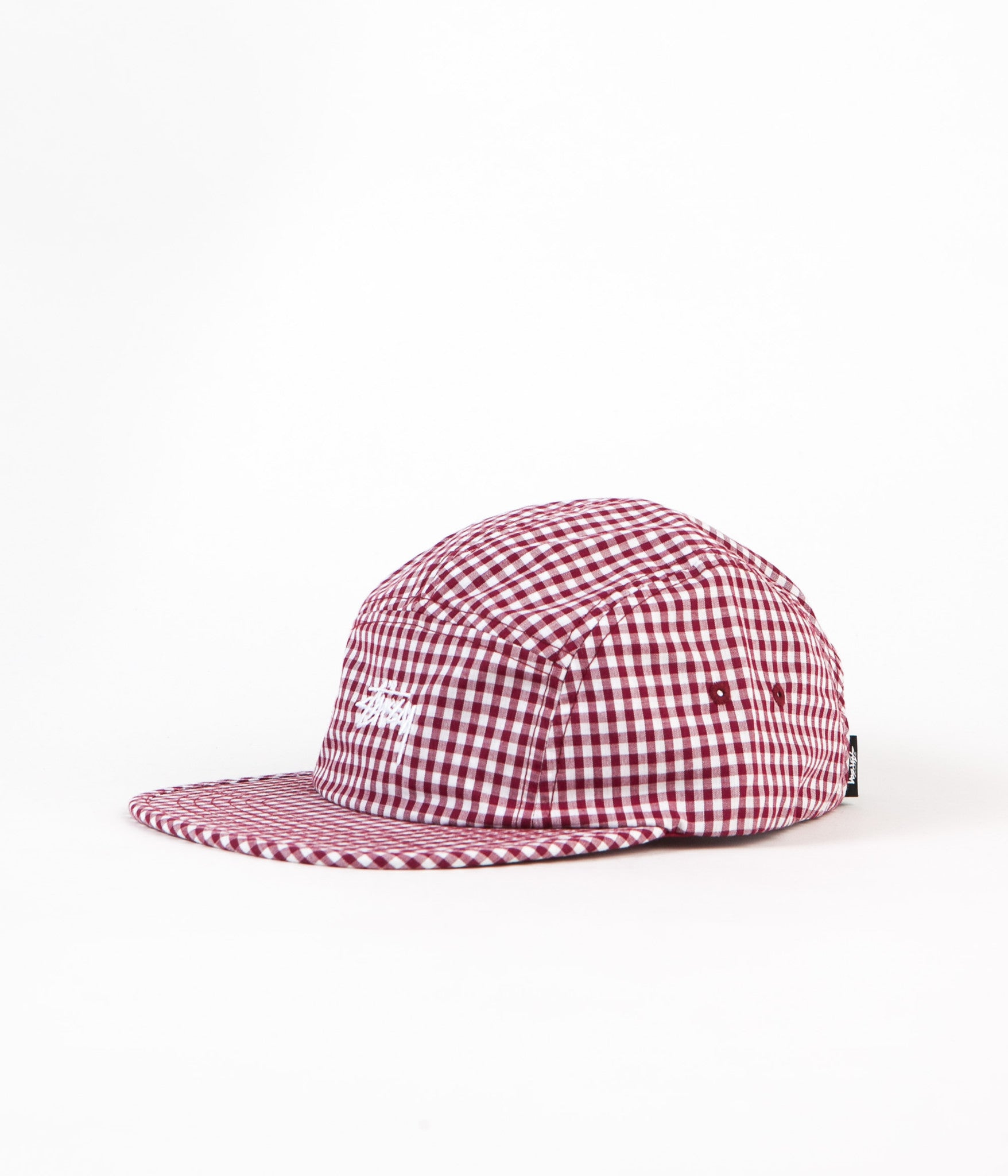 Stussy Gingham Stock Camp Cap - Red