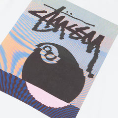 Stussy Glitch 8 Ball T-Shirt - White
