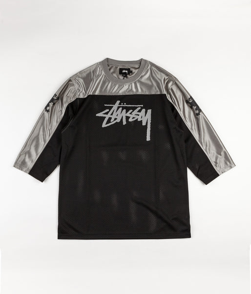 Stussy Griffin 3/4 Sleeve Football T-Shirt - Black