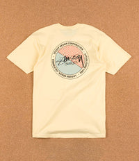 Stussy Halftone Dot T-Shirt - Pale Yellow