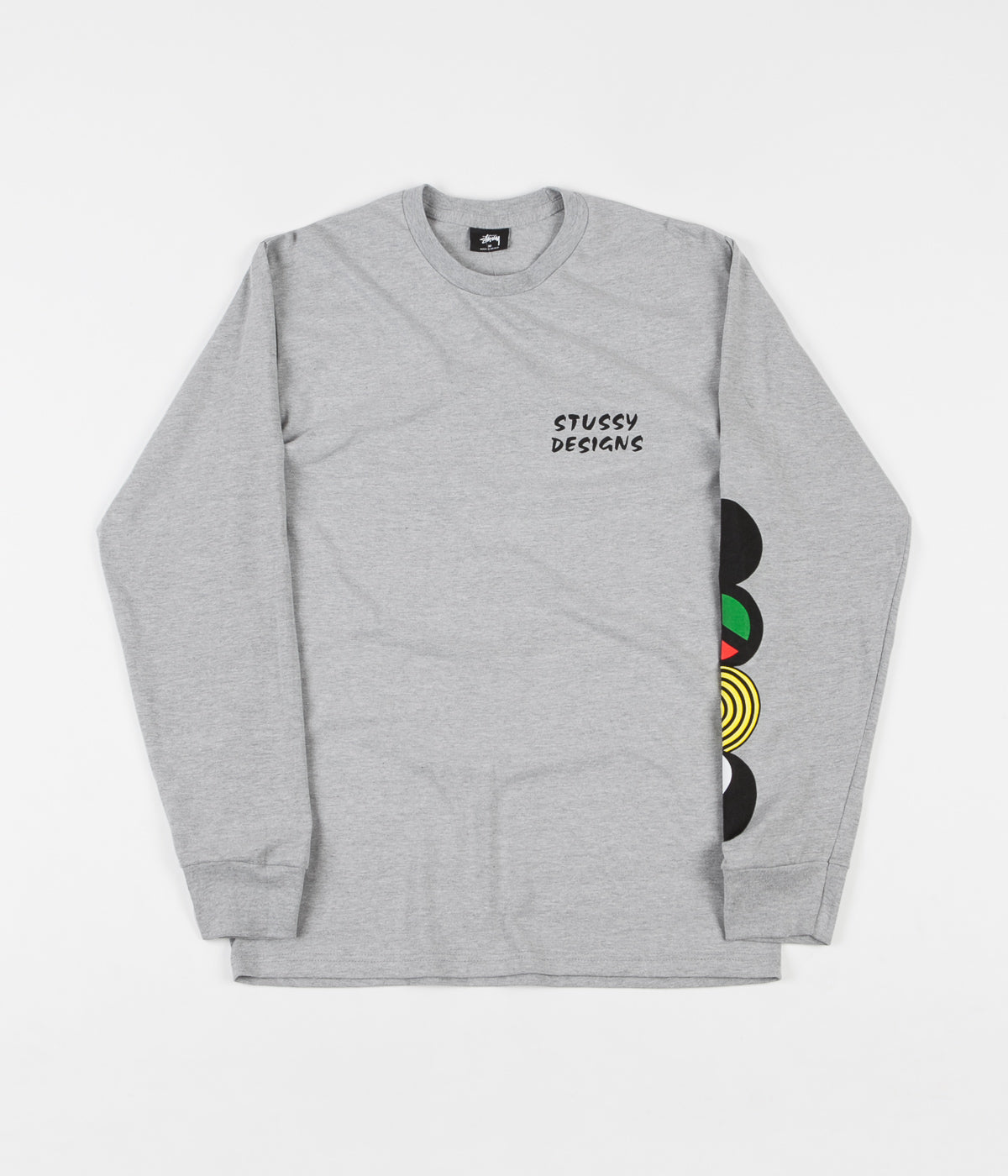 Stussy Harmony Long Sleeve T-Shirt - Ash Heather