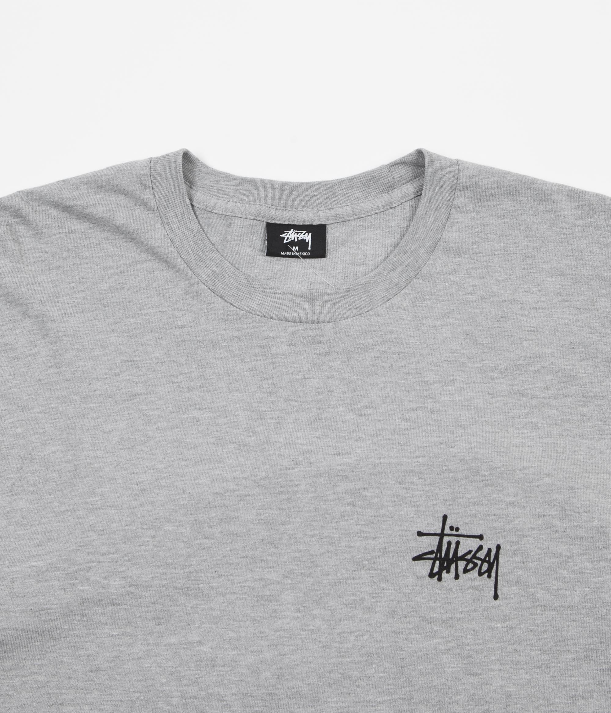 Stussy International Arc Long Sleeve T-Shirt - Grey Heather