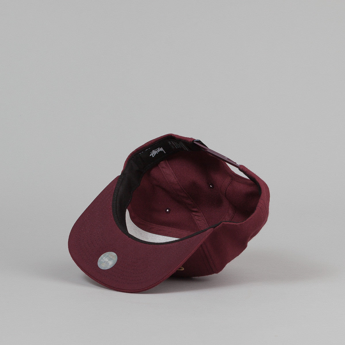 Stussy International No.4 Snapback Cap - Burgundy