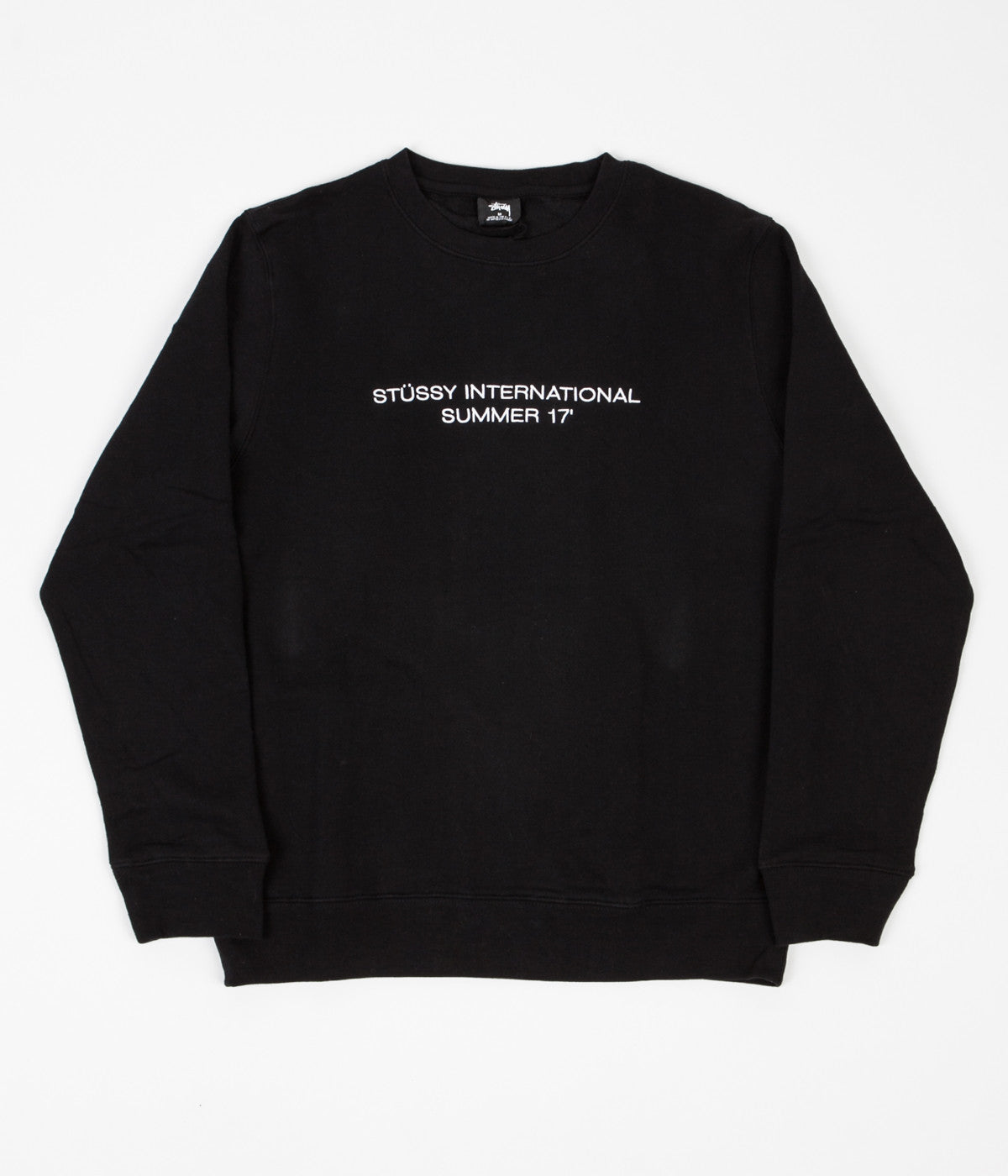 Stussy International Summer Applique Crewneck Sweatshirt - Black