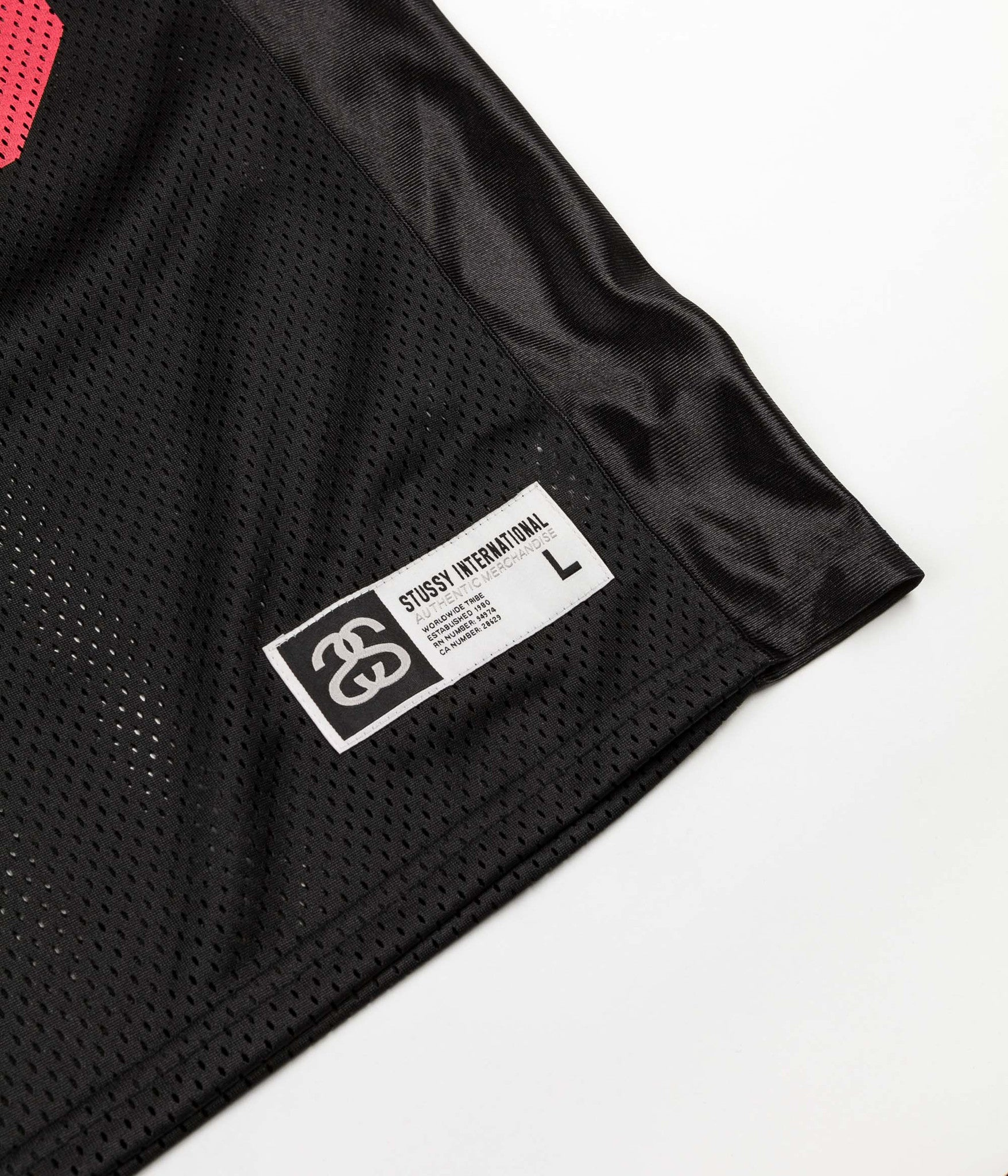 Stussy IST Football Short Sleeve Mesh Jersey - Black