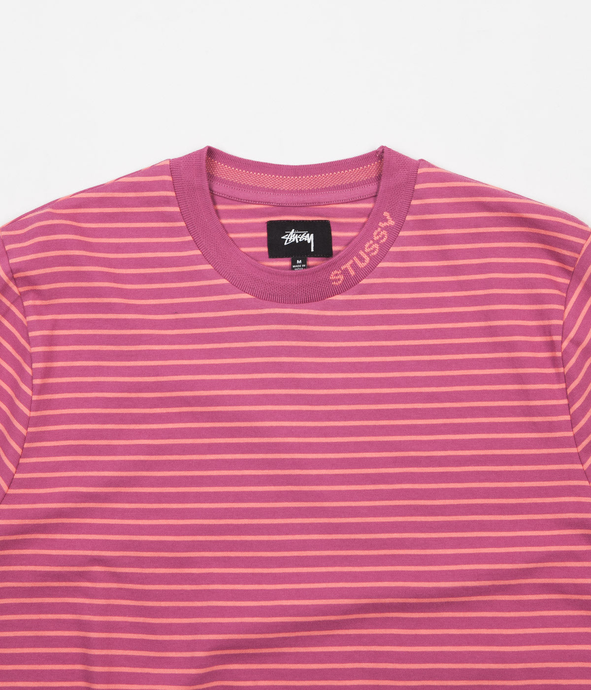 Stussy Jack Stripe T-Shirt - Berry