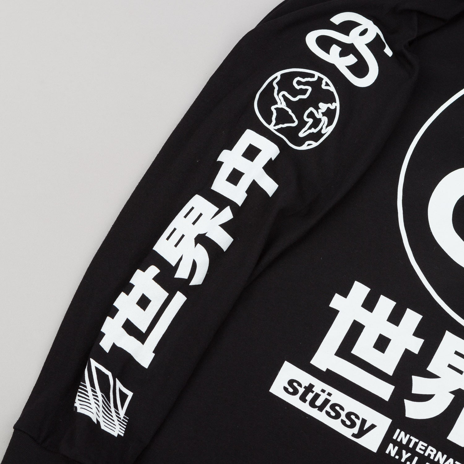 Stussy Japan International L/S T-Shirt - Black