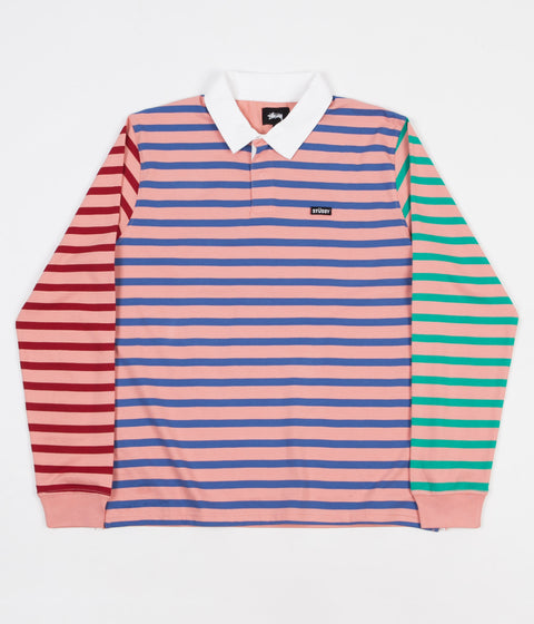 Stussy flatspot for Pink and purple striped rugby shirt