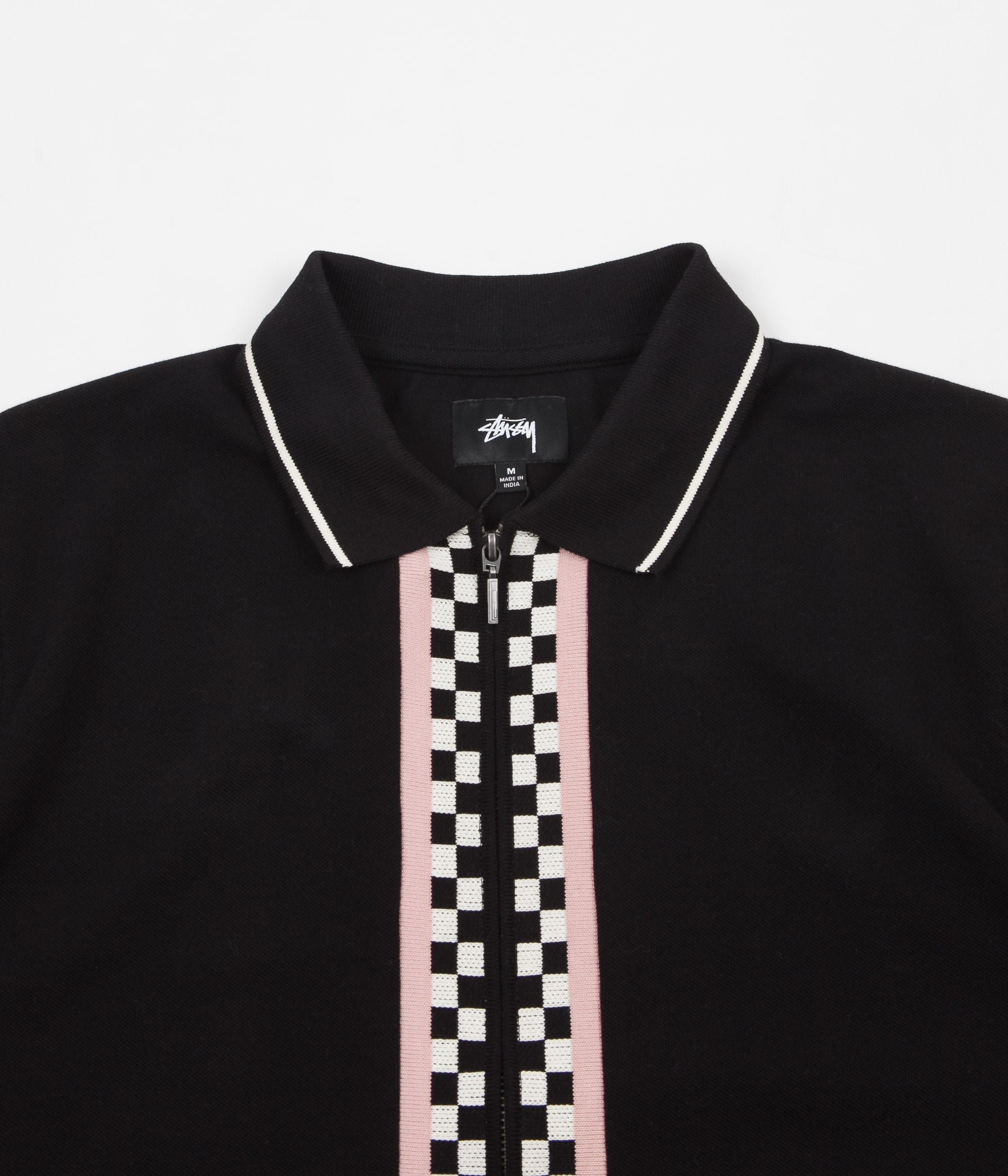 Stussy Julian Full-Zip Polo Shirt - Black
