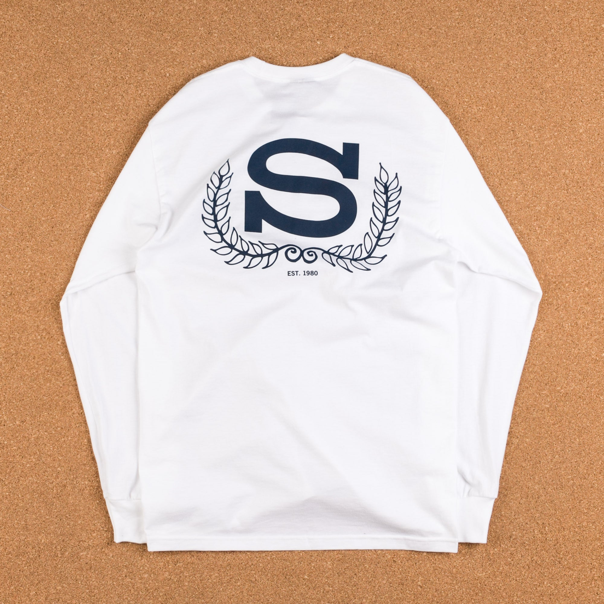 Stussy Wreath Long Sleeve T-Shirt - White
