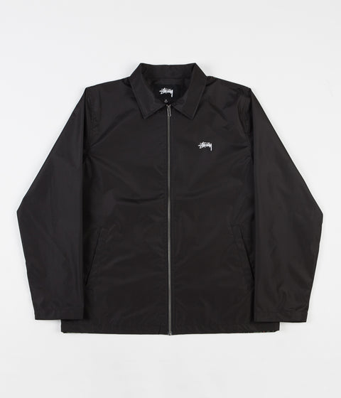 Stussy Leopard Panel Jacket - Black