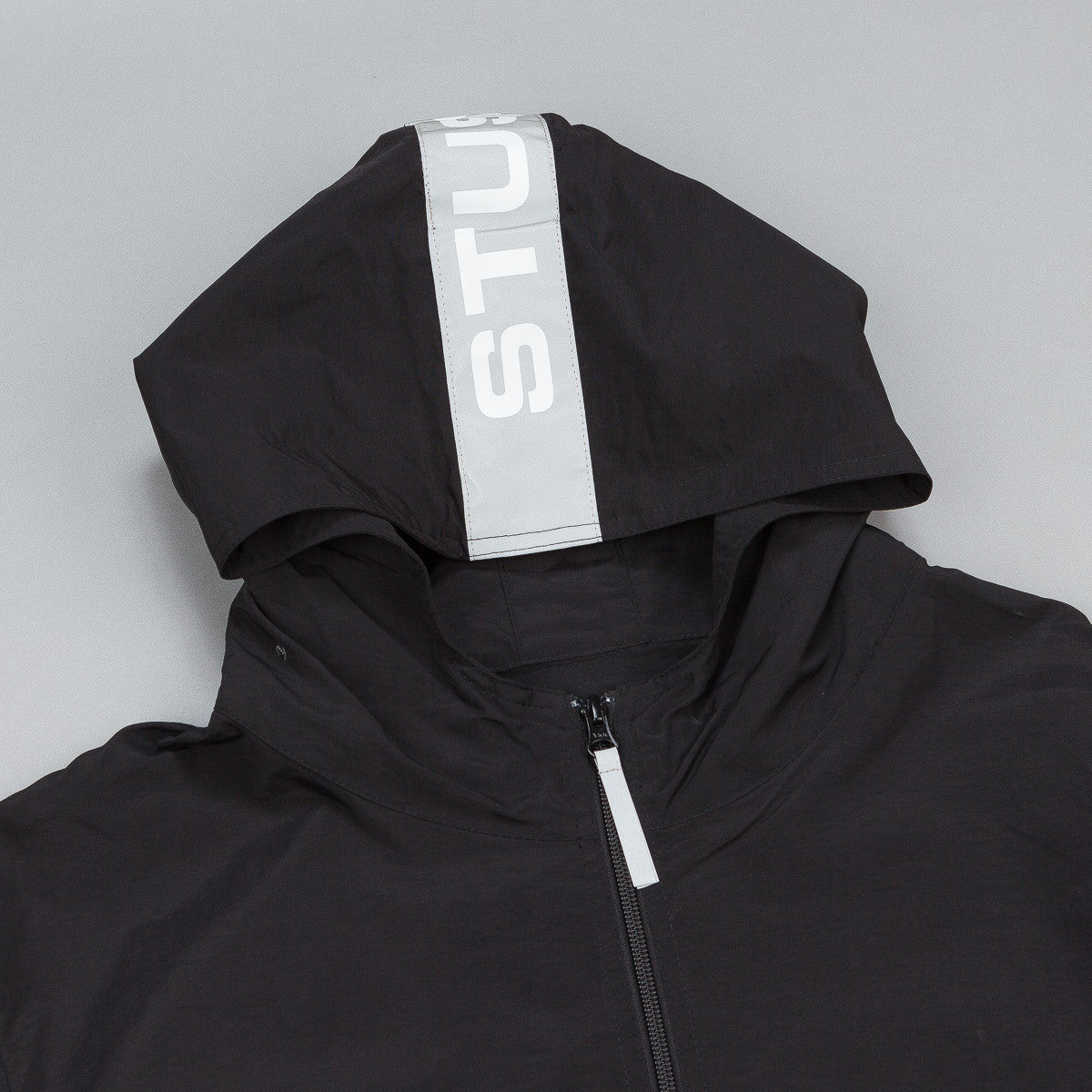 Stussy Light Nylon Full Zip Jacket - Black