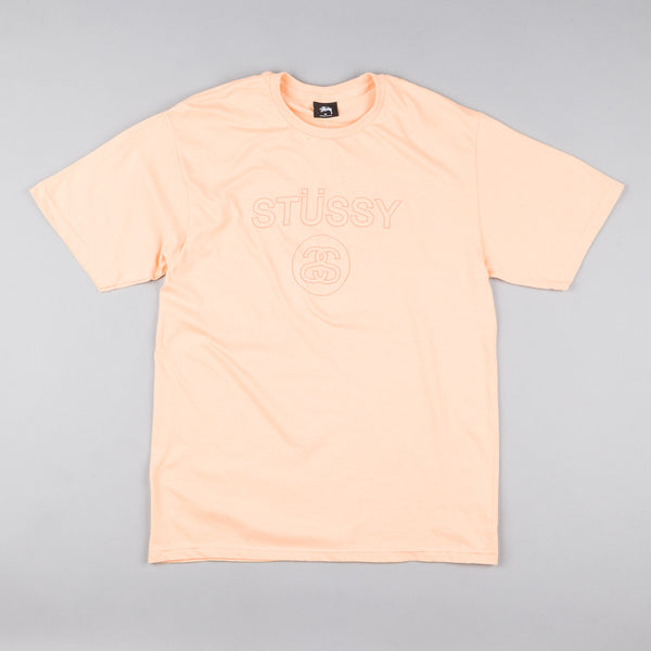 Stussy Link Embroidered T-Shirt - Peach