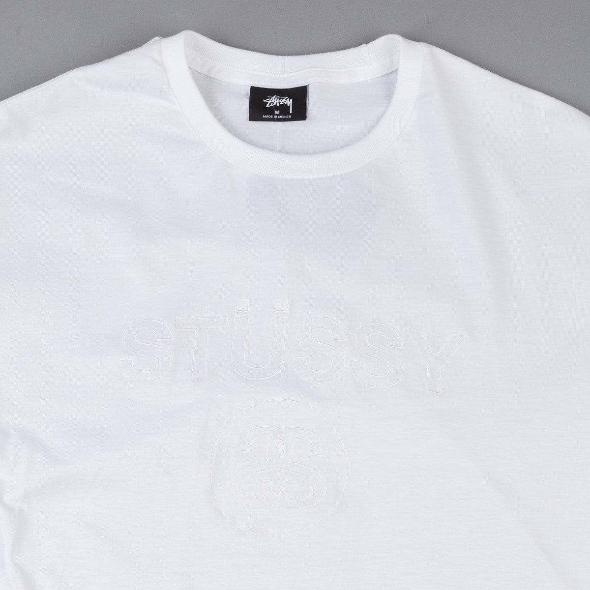 Stussy Link Embroidered T-Shirt - White