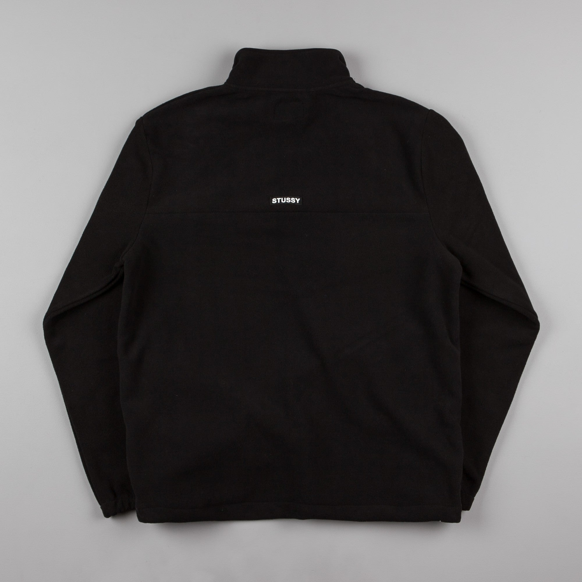 Stussy Logo Tape Mock Neck Sweatshirt - Black