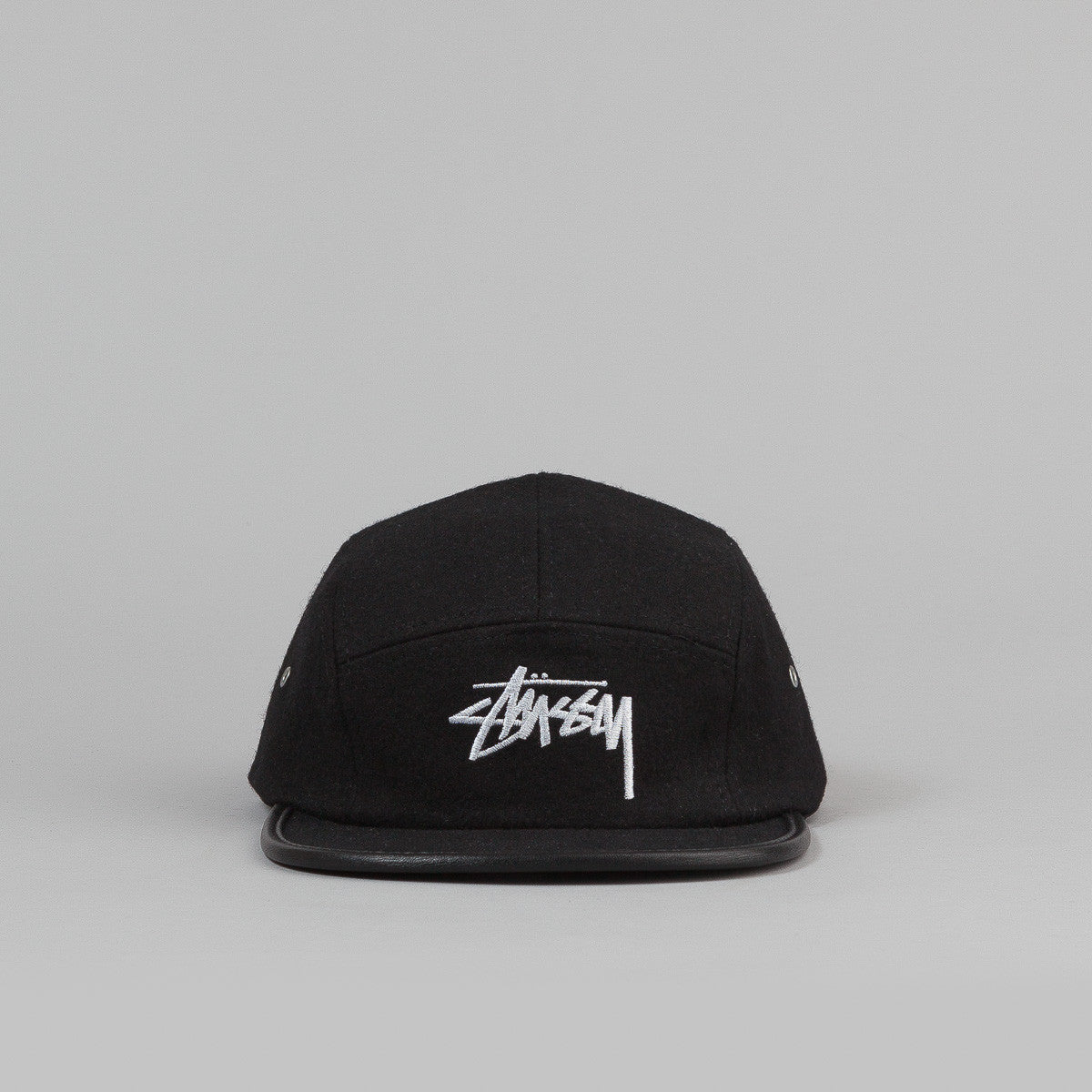 Stussy Melton Wool Camp Cap Black