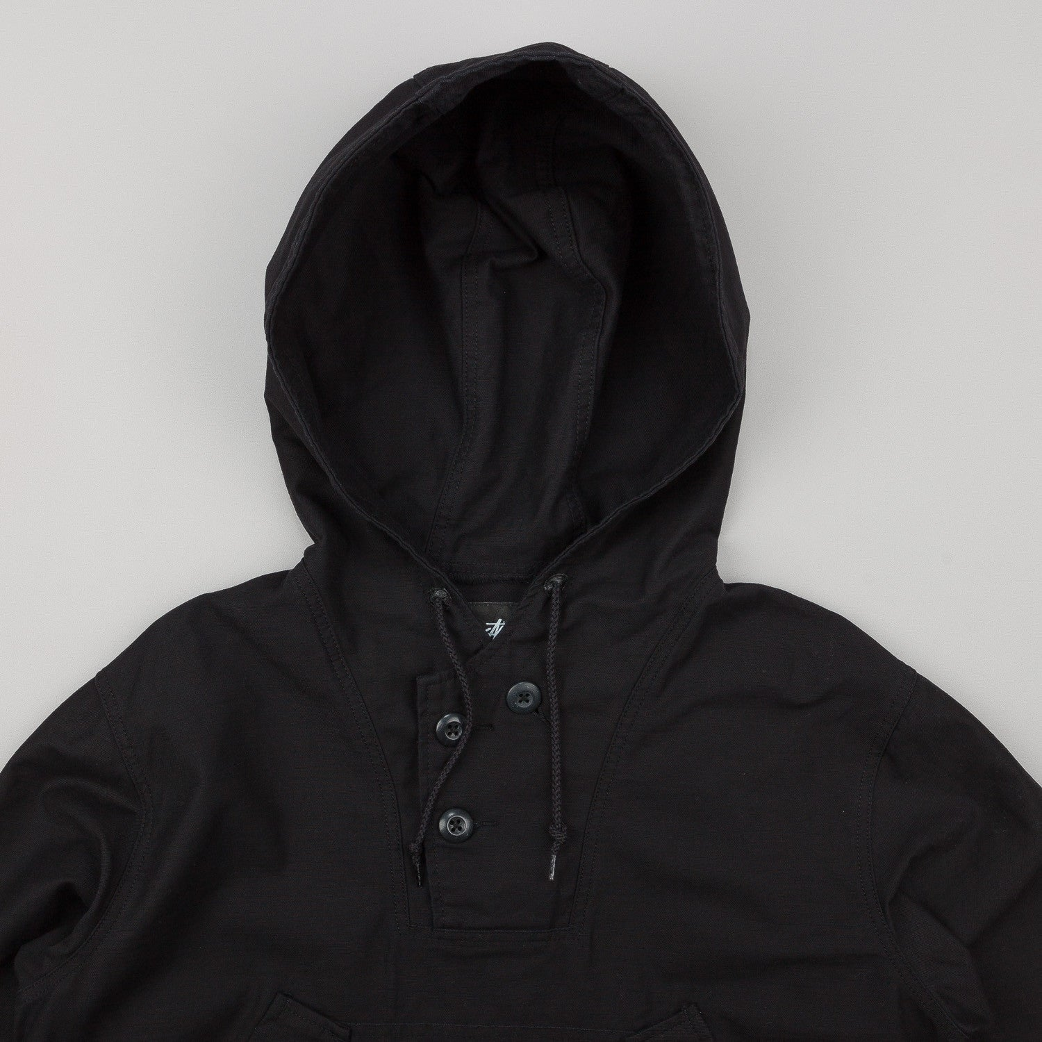 Stussy Military Poncho Jacket - Black