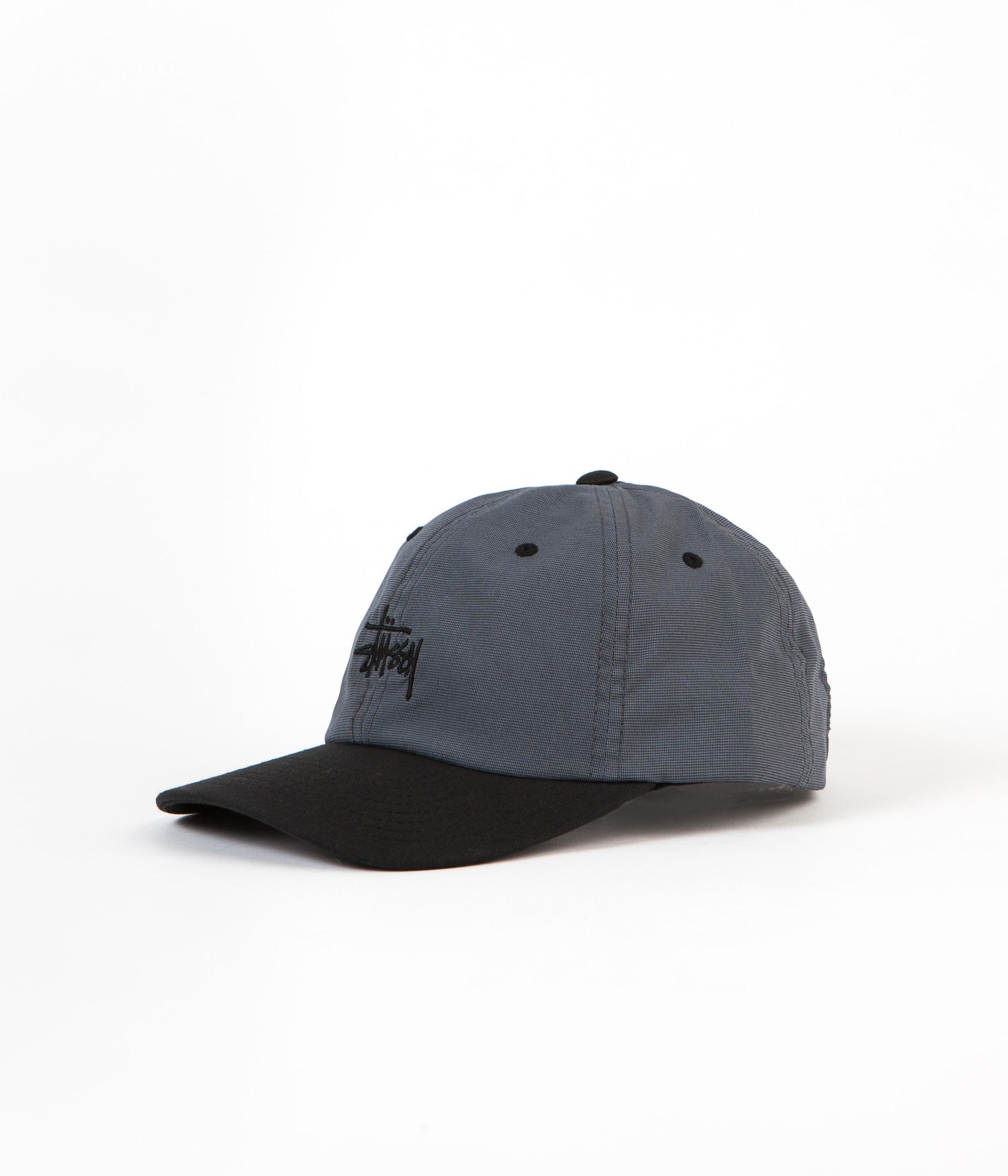 Stussy Mini Houndstooth Cap - Black