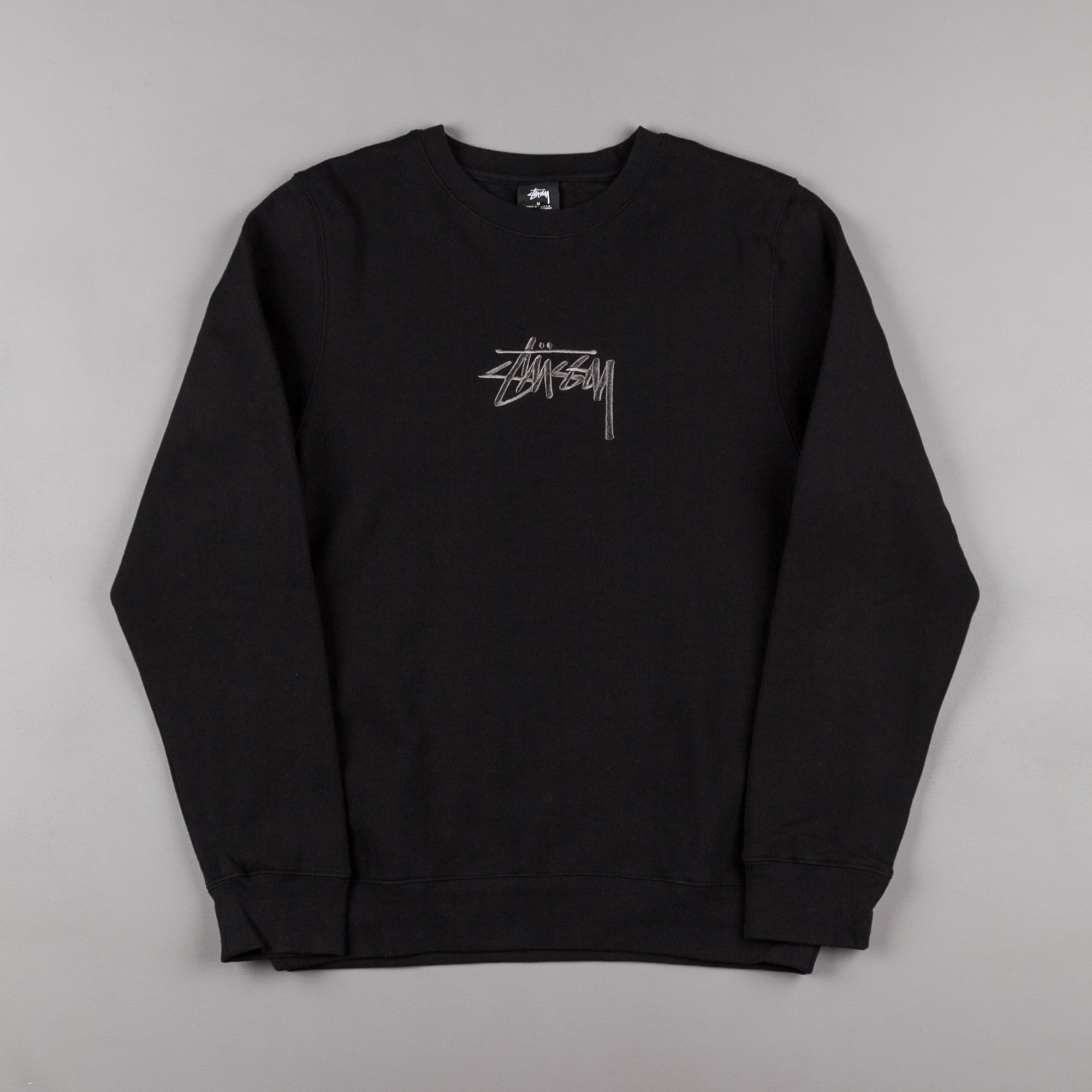 Stussy New Stock Crewneck Sweatshirt - Black