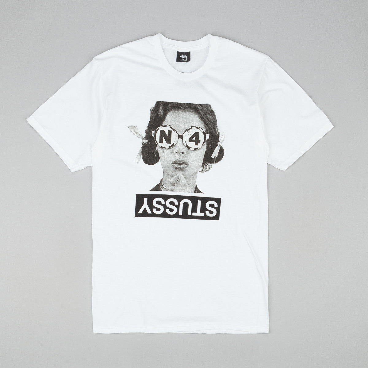 Stussy No.4 Glasses T-Shirt - White