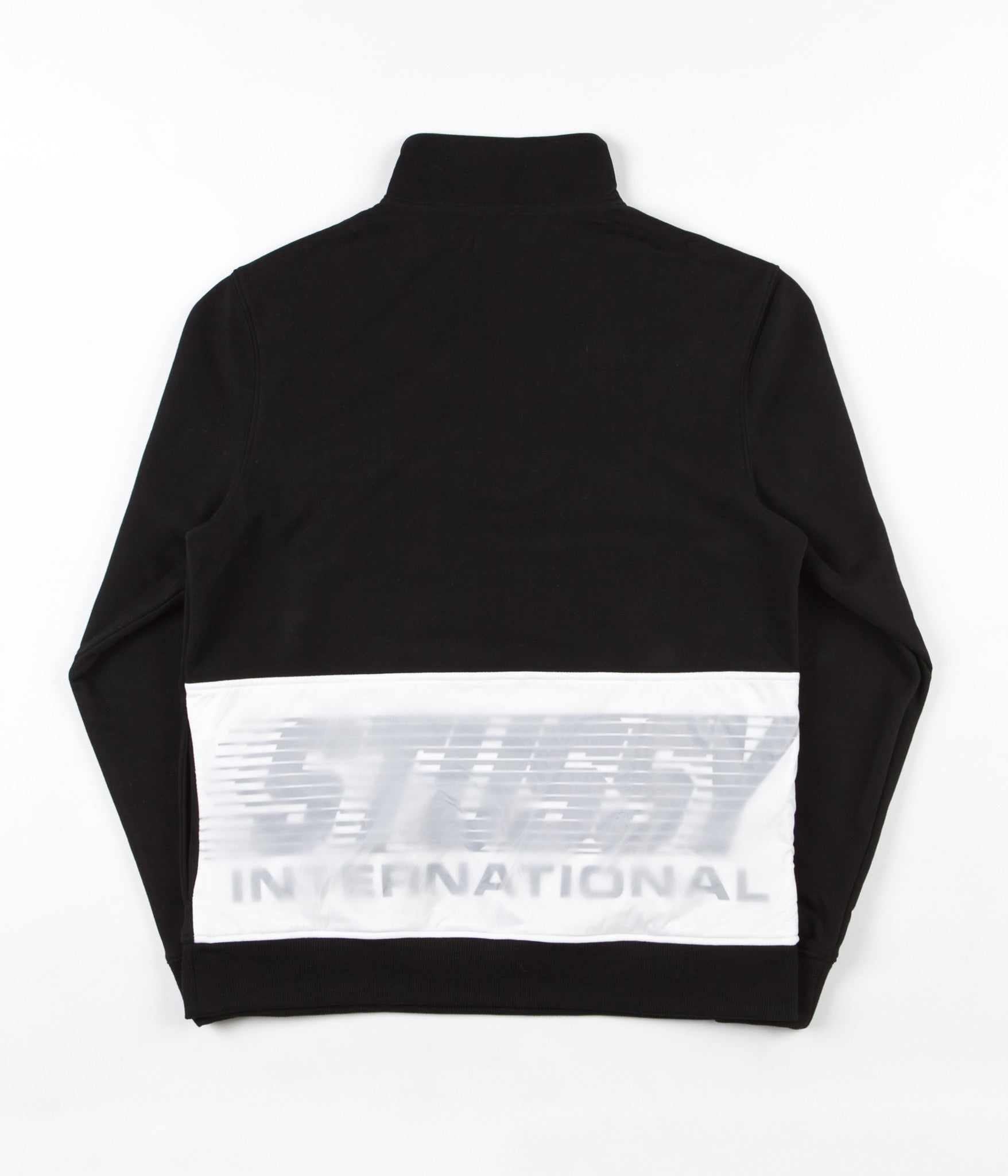 Stussy Nylon Panel Mockneck Sweatshirt - Black