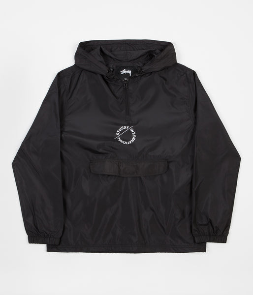 Stussy Nylon Pop Over Jacket - Black