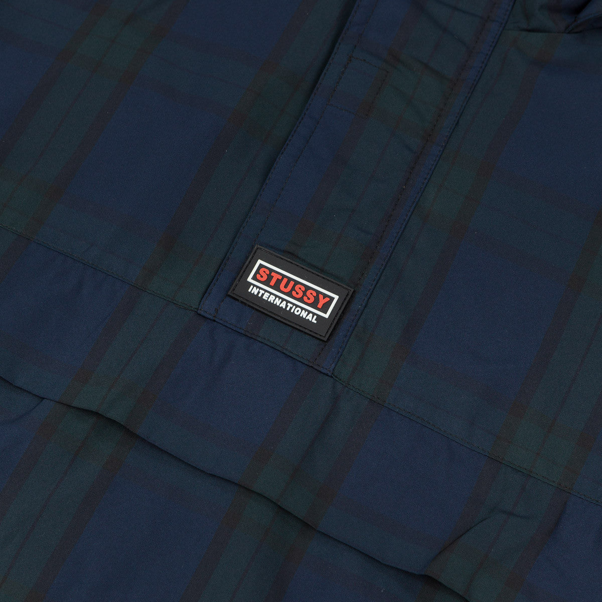 Stussy Nylon Pullover Jacket - Navy Plaid