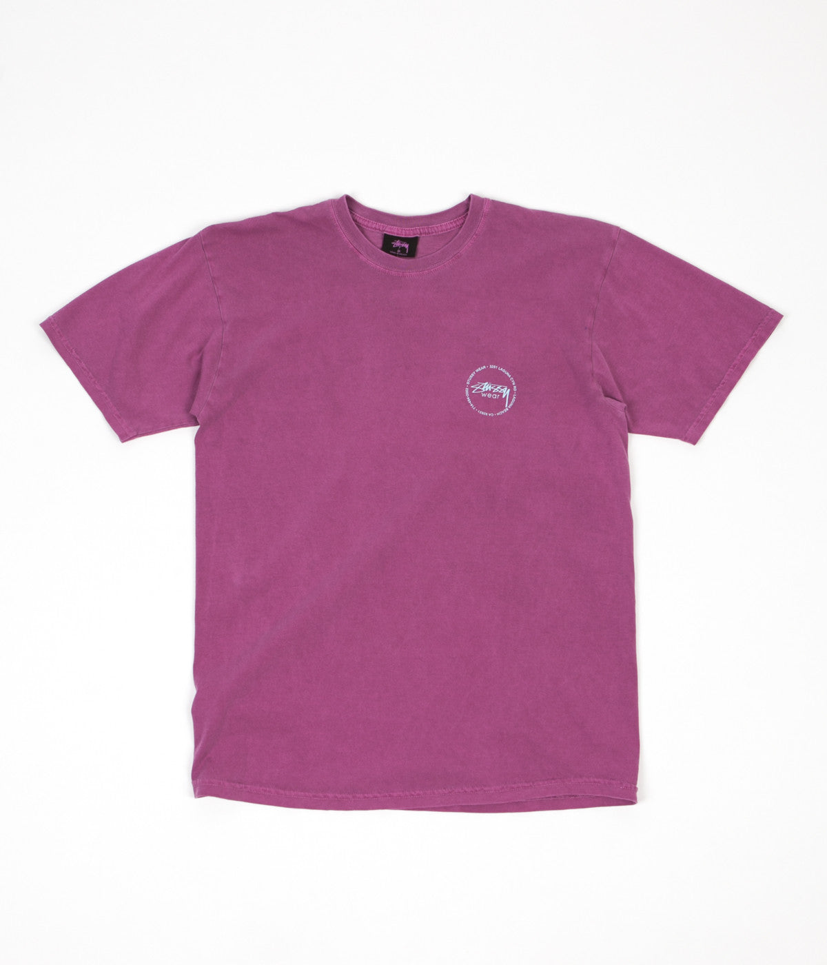 Stussy Old Stamp Pigment Dyed T-Shirt - Berry