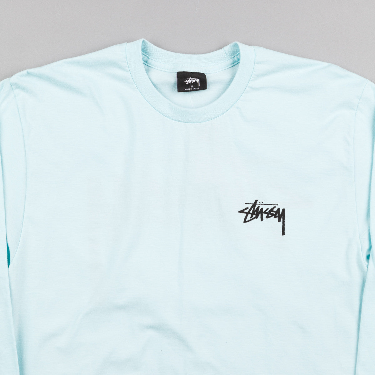 Stussy Original Stock Long Sleeve T-Shirt - Light Blue