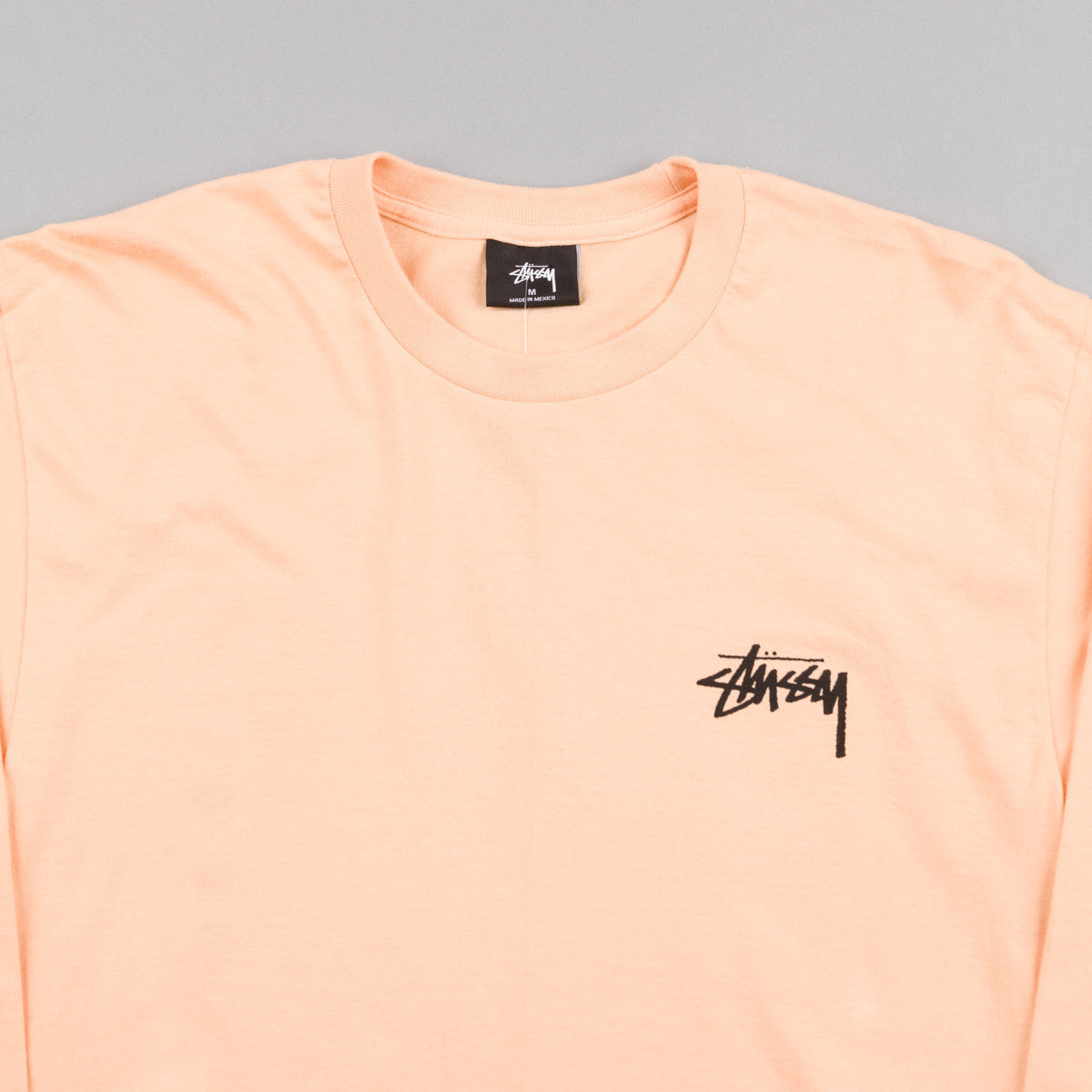 Stussy Original Stock Long Sleeve T-Shirt - Peach